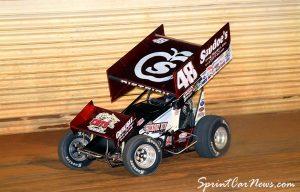 Danny Dietrich rolls through turn three at Port Royal Speedway - SprintCarNews.com Photo Credit