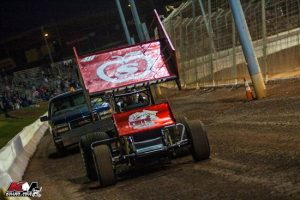Photo: Danny Dietrich pushes off for feature action at The Dirt Track at Charlotte - Killer Mile Photography